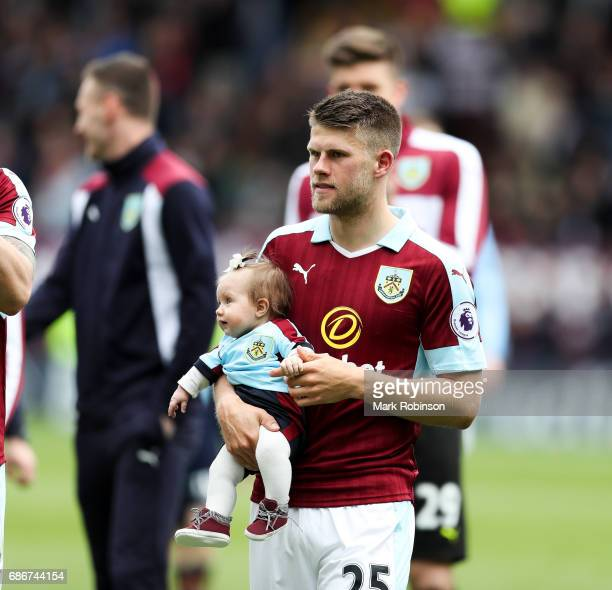 Johann Berg Gudmundsson of Burnley at the end of the match of the Premier League match between Burnley and West Ham United at Turf Moor on May 21...