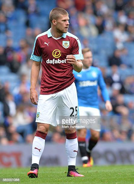 Johann Berg Gudmundsson of Burnley in action during a preseason friendly between Rangers FC and Burnley FC at Ibrox Stadium on July 30 2016 in...