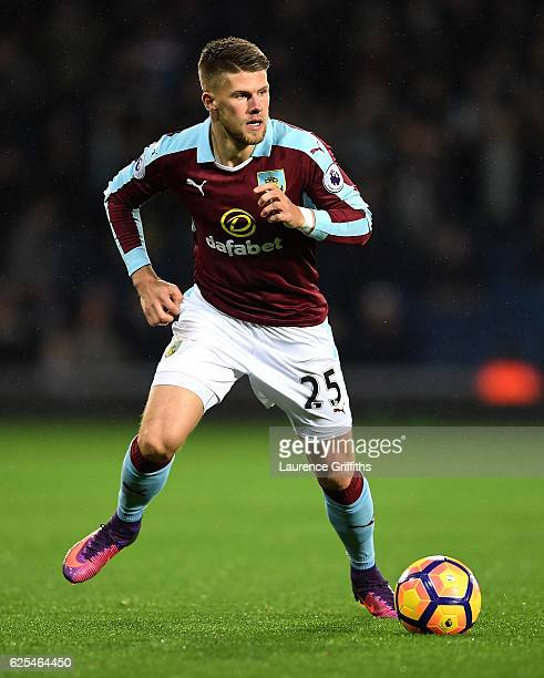 Johann Berg Gudmundsson of Burnley in action during the Premier League match between West Bromwich Albion and Burnley at The Hawthorns on November 21...