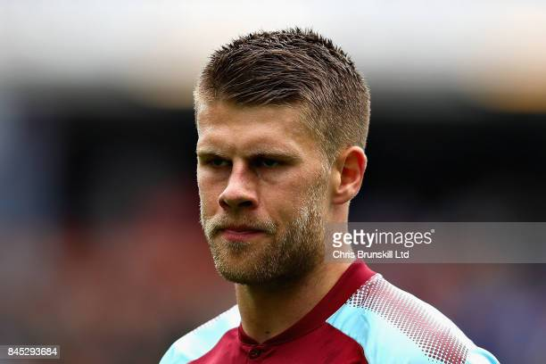 Johann Berg Gudmundsson of Burnley looks on during the Premier League match between Burnley and Crystal Palace at Turf Moor on September 10 2017 in...