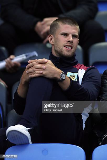Johann Berg Gudmundsson of Burnley looks on during the preseason friendly match between Bolton Wanderers and Burnley at the Macron Stadium on July 26...