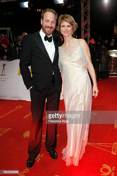 Johann Buelow and Katrin Buelow attend the 'Goldene Kamera 2013' on February 2, 2013 in Berlin, Germany.