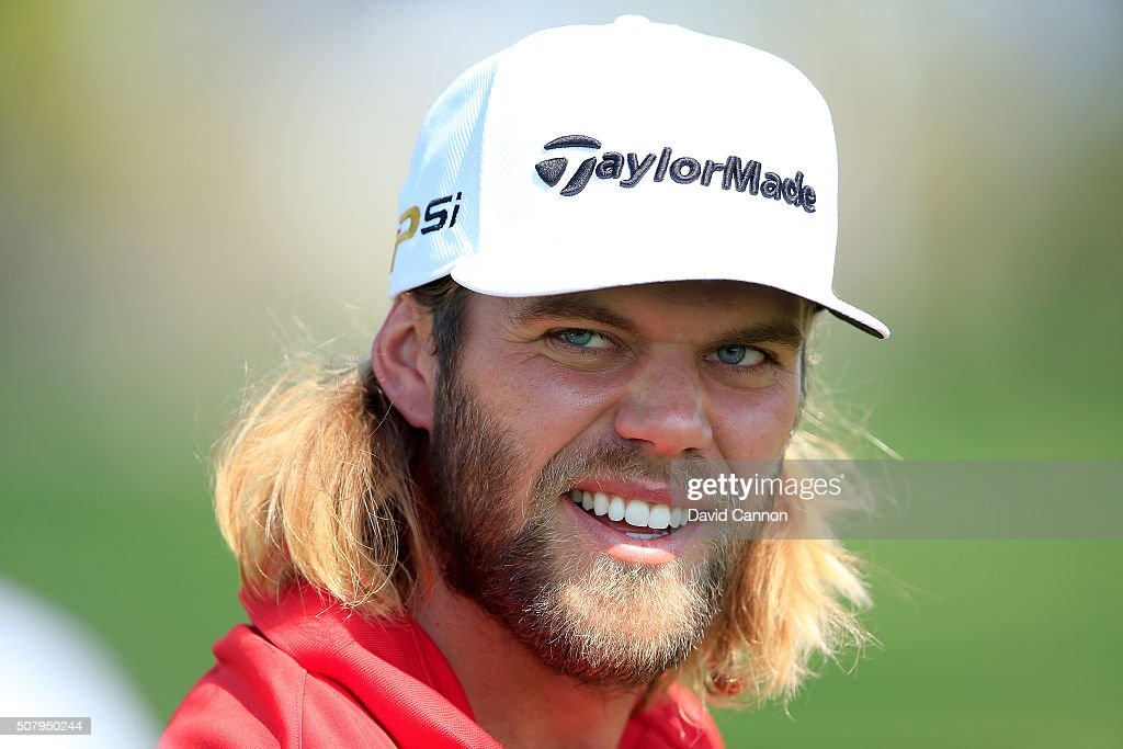 Johann Carlsson of Sweden during his practice round as a preview for the 2016 Omega Dubai Desert Classic on the Majlis Course at the Emirates Golf Club on February 2, 2016 in Dubai, United Arab Emirates.