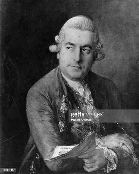 Johann Christoph Friedrich Bach German composer Original Artwork Painting by Thomas Gainsborough