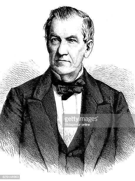 Johann eduard erdmann 1805 1892 a german professor of philosophy and writer historical engraving about 1889