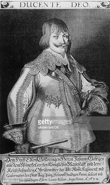 Johann Georg aus dem Winckel 1596-1639 Herrführer in schwedischen Diensten Stich v. Lucas Kilian, 1634
