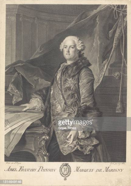 Johann Georg Wille, , German, 1715 - 1808, Louis Tocque, , French, 1696 - 1772, Abel Francois Poisson, Marquis de Marigny, engraving.