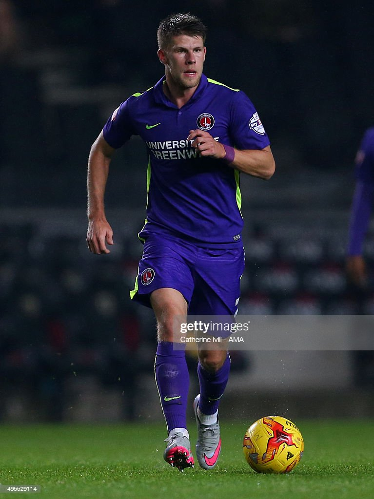 Johann Gudmundsson of Charlton Athletic during the Sky Bet Championship match between MK Dons and Charlton Athletic at Stadium mk on November 3, 2015 in Milton Keynes, United Kingdom.