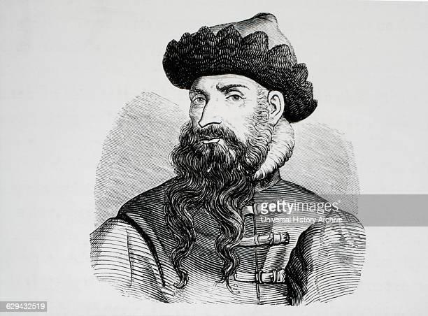 Johann Gutenberg Portrait Engraving 16th Century