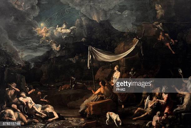 Johann Heiss German painter Phaethon's Fall 1678 National Gallery Prague Czech Republic