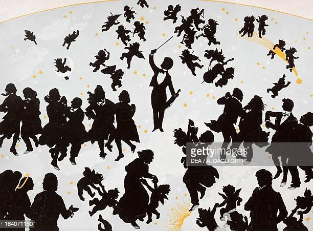 Johann Strauss Viennese composer welcomed at the musical Olympus silhouette by Otto Bohler Vienna Historisches Museum Der Stadt Wien