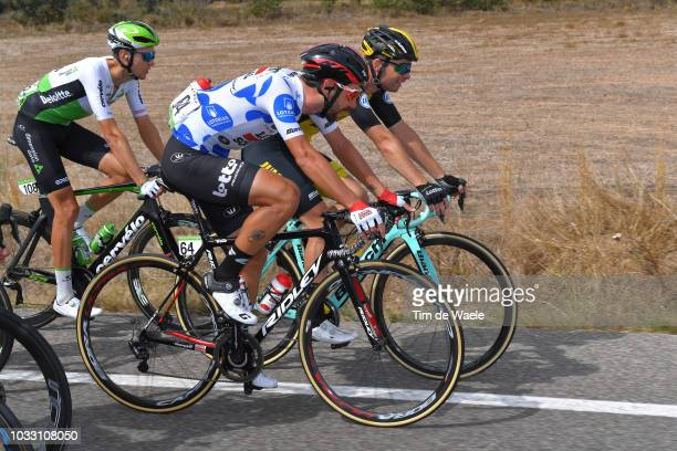 Johann Van Zyl of South Africa and Team Dimension Data / Thomas De Gendt of Belgium and Team Lotto Soudal Polka dot mountain jersey / Bert-jan...