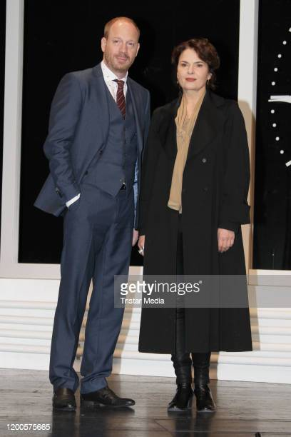 "Johann von Buelow and Barbara Auer during the photo call ""Heilig Abend"" at St. Pauli Theater on January 17, 2020 in Hamburg, Germany."