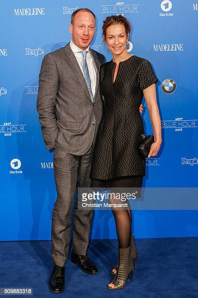 Johann von Buelow and Guest attend the Blue Hour Reception hosted by ARD during the 66th Berlinale International Film Festival Berlin on February 12...