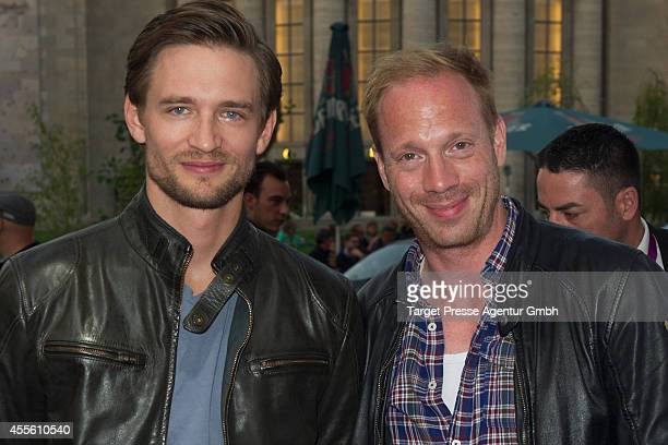 Johann von Buelow and guest attend the 'Die Schlikkerfrauen' photocall at Babylon on September 17 2014 in Berlin Germany
