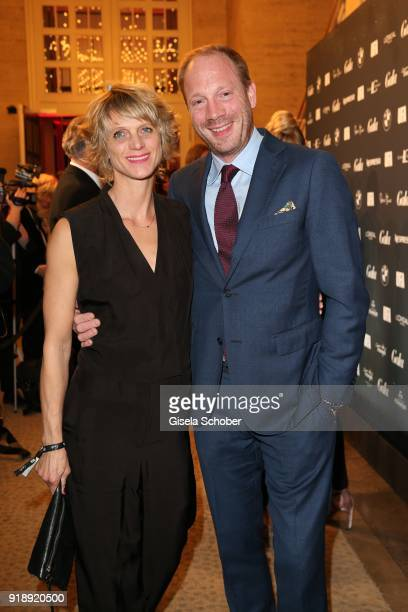 Johann von Buelow and his wife Katrin during the Berlin Opening Night by GALA and UFA Fiction at Das Stue on February 15, 2018 in Berlin, Germany.