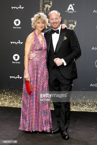 Johann von Buelow and his wife Katrin von Buelow attends the 70th Bambi Awards at Stage Theater on November 16, 2018 in Berlin, Germany.