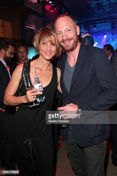Johann von Buelow and his wife Katrin von Buelow during the New Faces Award Film 2016 at ewerk on May 26 2016 in Berlin Germany