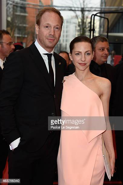 Johann von Buelow and Katharina Schuettler attends the '13 Minutes' premiere during the 65th Berlinale International Film Festival at Berlinale...