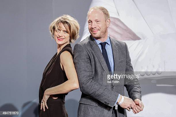 Johann von Buelow and Katrin von Buehlow attend the 'Spectre' German Premiere on October 28, 2015 in Berlin, Germany.