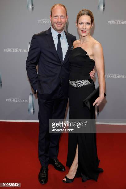 Johann von Buelow and Lisa Martinek attend the German Television Award at Palladium on January 26, 2018 in Cologne, Germany.