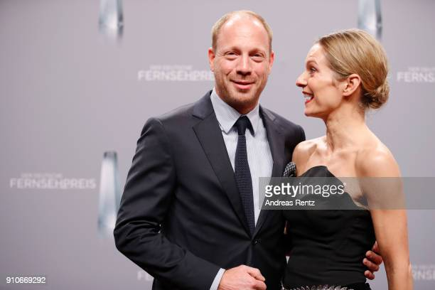 Johann von Buelow and Lisa Martinek attend the German Television Award at Palladium on January 26 2018 in Cologne Germany