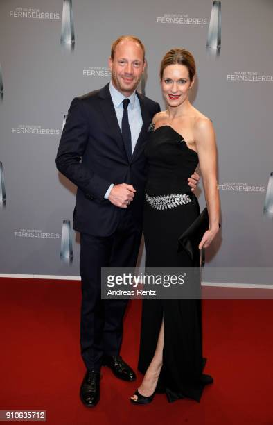 Johann von Buelow and Lisa Martinek attends the German Television Award at Palladium on January 26 2018 in Cologne Germany