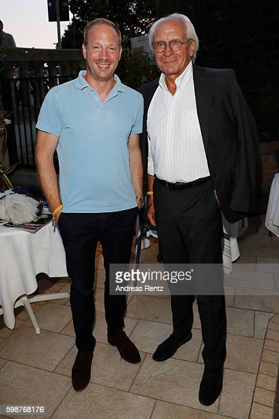 Johann von Buelow and Wolf Bauer attend the NRW reception during the 73rd Venice Film Festival at on September 2 2016 in Venice Italy