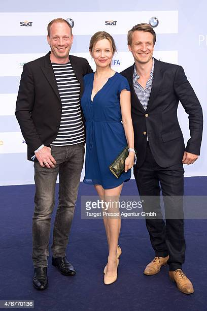 Johann von Buelow, Stefanie Stappenbeck and guest attend the producer party 2015 of the Alliance German Producer - Cinema And Television on June 11,...