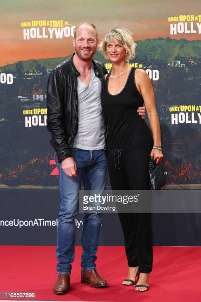 Johann von Buewlow and Katrin von Buelow attends the premiere of Once Upon A Time In Hollywood at CineStar on August 01 2019 in Berlin Germany