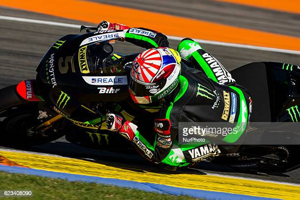 Johann Zarco from France of Monster Yamaha Tech 3 during the colective tests of Moto GP at Circuito de Valencia Ricardo Tormo on November 15th 2016...