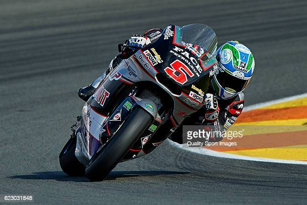 Johann Zarco of France and Ajo Motorsport rounds the bend during the MotoGP of Valencia Race at Comunitat Valenciana Ricardo Tormo Circuit on...