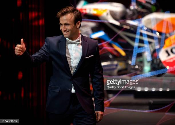 Johann Zarco of France and Monster Yamaha Tech 3 attends the FIM MotoGP Awards Ceremony at Palacio de Congresos de Valencia on November 12 2017 in...