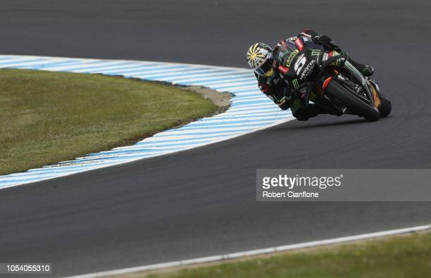 Johann Zarco of France and Monster Yamaha Tech 3 during practice for the 2018 MotoGP of Australia at Phillip Island Grand Prix Circuit on October 27...