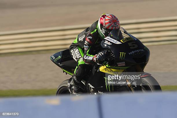 Johann Zarco of France and Monster Yamaha Tech 3 heads down a straight during the MotoGp Tests In Valencia at Ricardo Tormo Circuit on November 16...