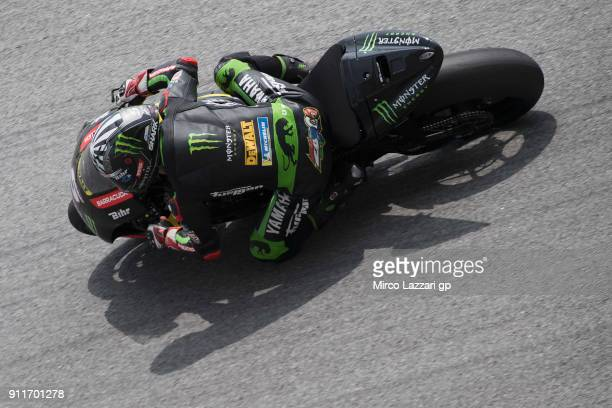 Johann Zarco of France and Monster Yamaha Tech 3 heads down a straight during the MotoGP Tests In Sepang at Sepang Circuit on January 29 2018 in...
