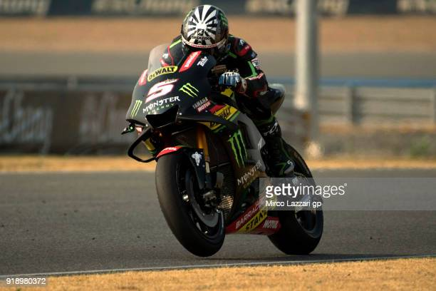 Johann Zarco of France and Monster Yamaha Tech 3 heads down a straight during the MotoGP Tests In Thailand on February 16 2018 in Buri Ram Thailand
