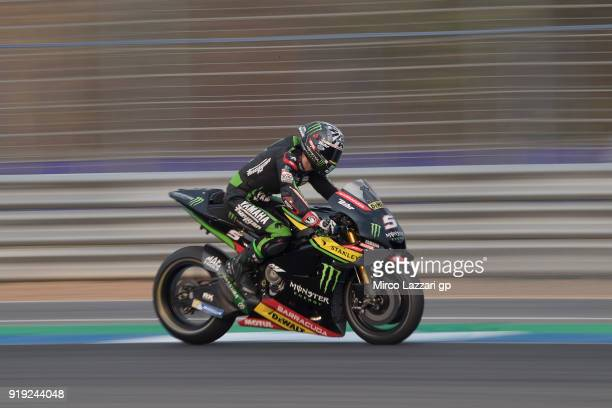 Johann Zarco of France and Monster Yamaha Tech 3 heads down a straight during the MotoGP Tests In Thailand on February 17 2018 in Buri Ram Thailand
