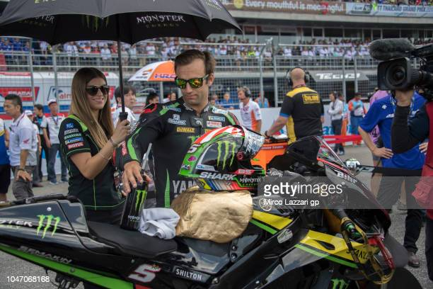 Johann Zarco of France and Monster Yamaha Tech 3 prepares to start on the grid during the MotoGP race during the MotoGP Of Thailand Race on October 7...