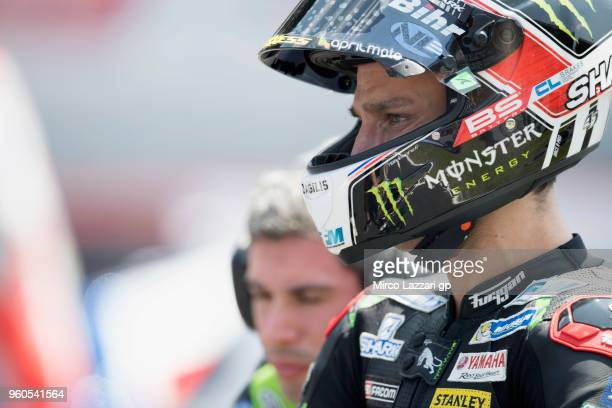 Johann Zarco of France and Monster Yamaha Tech 3 prepares to start on the grid during the MotoGP race during the MotoGp of France Race on May 20 2018...