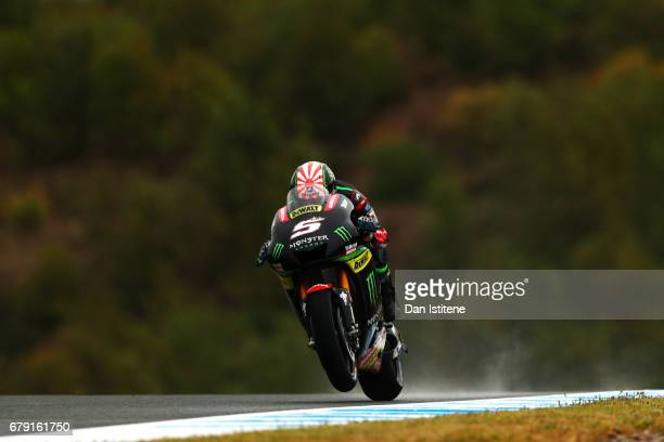 Johann Zarco of France and Monster Yamaha Tech 3 rides during free practice for the MotoGP of Spain at Circuito de Jerez on May 5 2017 in Jerez de la...