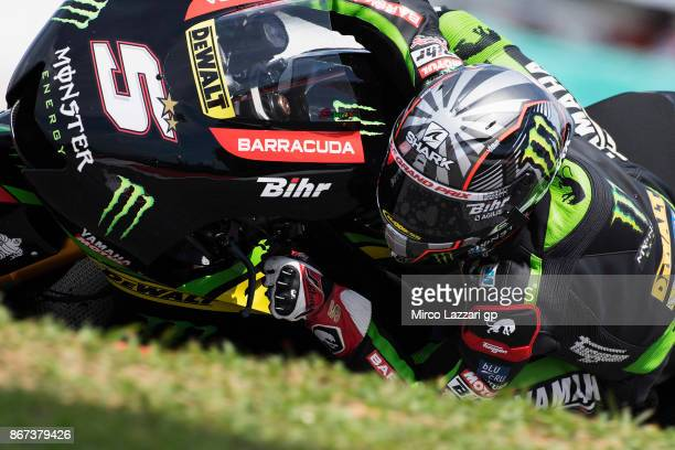Johann Zarco of France and Monster Yamaha Tech 3 rounds the bend during the qualifying practice during the MotoGP Of Malaysia Qualifying at Sepang...