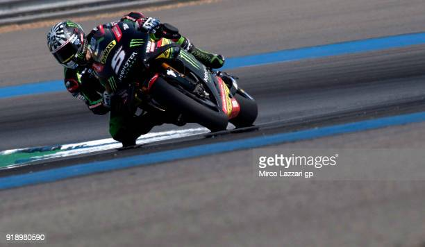 Johann Zarco of France and Monster Yamaha Tech 3 rounds the bend during the MotoGP Tests In Thailand on February 16 2018 in Buri Ram Thailand