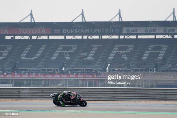 Johann Zarco of France and Monster Yamaha Tech 3 rounds the bend during the MotoGP Tests In Thailand on February 17 2018 in Buri Ram Thailand