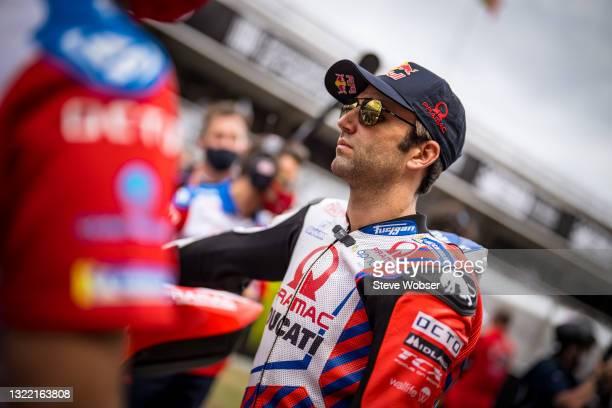 Johann Zarco of France and Pramac Racing looks at the starting grid during the MotoGP Gran Premi Monster Energy de Catalunya at Circuit de...