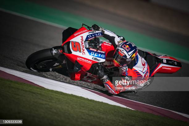Johann Zarco of France and Pramac Racing rides at Losail Circuit on March 26, 2021 in Doha, Qatar.
