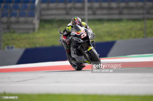 Johann Zarco of France and Reale Avintia Racing heads down a straight during the MotoGP Of Austria - Qualifying at Red Bull Ring on August 15, 2020...