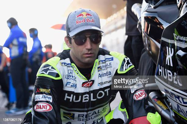 Johann Zarco of France and Reale Avintia Racing prepares to start on the grid during the MotoGP race during the MotoGP of Portugal at Algarve Motor...