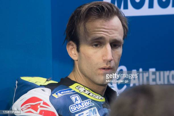 Johann Zarco of France and Reale Avintia Racing speaks in box during the MotoGP Tests at Losail Circuit on February 23, 2020 in Doha, Qatar.