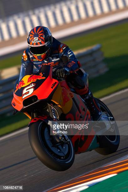 Johann Zarco of France and Red Bull KTM Factory Racing during the test of the new MotoGP season 2019 at Ricardo Tormo Circuit in Valencia Spain on...